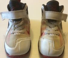 Lebron James Nike Shoe Sneaker Kids 7C White Black Red Leather Basketball Sports