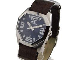 UVP 99€ Orig. Chronotech Herren Uhr Herrenuhr RW0161  Durchzugsband Braun NEU