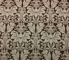 """LACEFIELD DESIGNS CHARLOTTE BROWN FLORAL DAMASK DESIGNER FABRIC BY YARD 54""""W"""