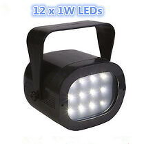 Mini 12x1W LEDs Strobe Light Multiple Flashing Speed Control Disco DJ Party Club