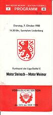 DDR-Liga 80/81 BSG Motor Weimar-BSG Motor Steinach 07.10.1980