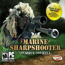 Marine Sharpshooter PC Games Window 10 8 7 XP Computer one shot one kill war NEW