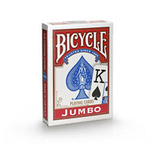 1 Deck RED Bicycle Poker Playing Cards Jumbo Index 808 Rider back