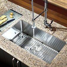 "30"" x 16"" Single Bowl Stainless Steel Hand Made Undermount Kitchen Sink COMBO"