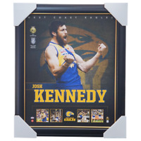 Josh Kennedy West Coast Eagles Football Club Official Licensed AFL Print Framed