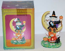 """Witch/Moon"" Halloween Figurine"