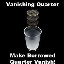 Vanishing Quarter in Shot Glass Coin Money Vanish Bar Magic Trick