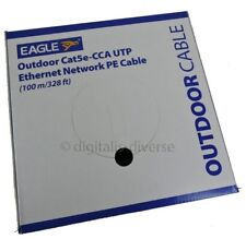 100m External CAT5e-CCA Indoor or Outdoor Use Ethernet Network Cable Reel UTP