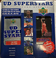 2002-03 Upper Deck Superstars Multi-Sport Box LeBron James Rookie Unopened Box