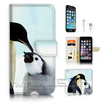 ( For iPhone 7 ) Wallet Case Cover P3398 Penguin