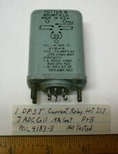 1 New Sealed Current Relay DPST.4A Cont.7ADC Coil POTTER&B #ML4183-3 LOT 217,USA