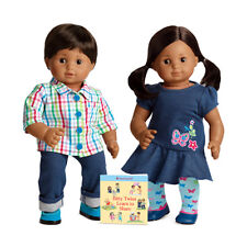 American Girl Bitty Twins Dolls Boy & Girl Brown Hair Brand New In Box