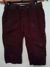 Lee womens Natural Fit brown drawstring 4 pocket capris 16M