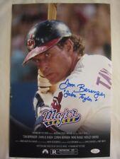 Tom Berenger Signed Jake Taylor MAJOR LEAGUE 11x17 Photo Poster - JSA (WP) COA