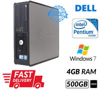 Cheap PC Dell 780 SFF Intel Dual Core@3.2ghz 4GB RAM 500GB HDD DVD Win 7 WiFi