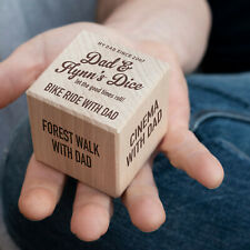Wooden Dad Dice, Lovely Personalised Gift For Father's Day