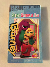 BARNEY SENSE SATIONAL DAY CLASSIC COLLECTION VHS WHITE TAPE