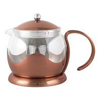 La Cafetiere Origins Copper & Glass Le Teapot With Infuser Basket - 660ml - 660