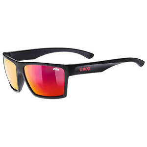 Cycling Sunglasses Uvex LGL 29 Black Matte Frame/Mirror Red Lenses
