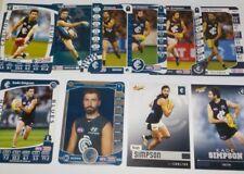 2011/17 AFL Teamcoach CARLTON Kade Simpson cards x8 inc silver, Select cards x 2