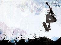 ART PRINT POSTER PAINTING DRAWING SPORT SKATEBOARD JUMP AIR ABSTRACT LFMP0431