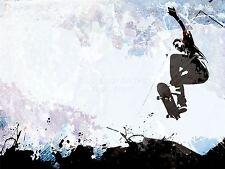Impresión arte cartel Pintura Dibujo Sport Patineta Jump Aire Abstracto lfmp0431