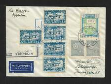 ZEPPELIN PARAGUAY TO GERMANY AIR MAIL COVER 1934