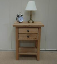 Round Side & End Tables with Drawers