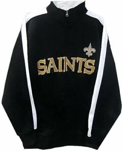 New Orleans Saints NFL Mens End Zone Full Zip Track Jacket Big & Tall Sizes