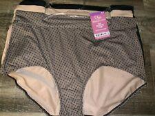 Olga ~ Women's Microfiber Brief Underwear Panties Polyester 3-Pair Beige ~ 2XL/9