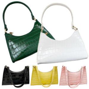 Elegant Baguette Bag Women Retro Clutch Crossbody Shoulder Handbag Underarm Tote