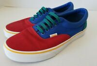 Vans Off The Wall Classic Shoes 500714 Red/Blue/Green Unisex ,Men 8.5 Women 10