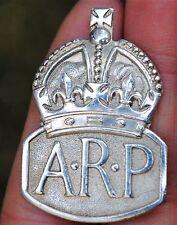Solid silver ARP badge