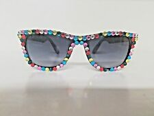 Novelty Sunglasses with Multi Colored Stone Accents