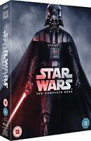Star Wars Complete Saga 1977 Movie Parts 1-6 Collection 9 Boxset New UK Blu-ray