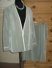 NEW JACQUES VERT MOTHER OF THE BRIDE 2 PCE SUIT  (JACKET & SKIRT)   UK 20