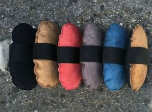 Real Leather & Suede Massage Pad / Strapping Pad. Horse grooming / muscle toner