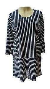 Kleid LaBass Streifen Baumwolle Jersey Gr. 1 ( 50 - 52 ), 2 ( 54 - 56 ) 2 Farben