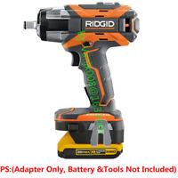 1x Ridgid 18V Drill Tools Adapter Work with Dewalt 20V MAX DCB203 Li-Ion Battery