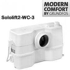 TRITURATORE SOLLEVATORE ACQUE SPORCHE (WC + 3 SCARICHI) GRUNDFOS SOLOLIFT2 WC-3