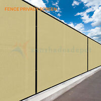 4' 5' 6' 8' Beige Commercial Fence Privacy Screen Shade Cover Fabric Mesh Garden