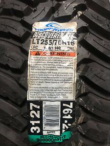1 New LT 255 70 16 Cooper Discoverer STT 6 Ply Mud Tire
