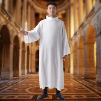 Catholic Clergy Liturgical White Robe Mass Alb Cassock Robe Priest Vestments