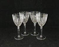 Oneida ORCHESTRA Lead Crystal Wine Goblets Glasses ~ Set of 4