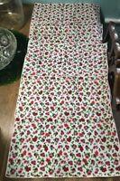 "Laura Ashley small floral print napkins, set of 4 17"" sq 100% cotton pink purple"