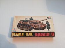 KIT DI MONTAGGIO ESCI POLISTIL 1/72 8012 GERMAN TANK jagdpanzer IV VINTAGE! RARO