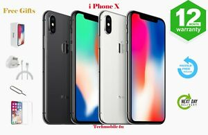 Apple iPhone X 64GB/256GB Space Grey/Silver - Unlocked Smartphone NEW SEALED