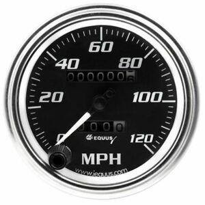 """Equus Speedometer Gauge 7072; 7000 Series 0-190 KPH 3-3/8"""" Full Sweep Mechanical"""