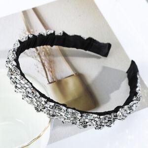 Full Rhinestone Crystal Headband for Women Bezel Hair Hoop Band Hair Accessories