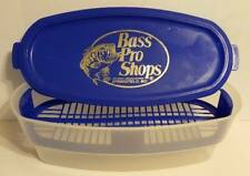 Bass Pro Shop Three Piece Plastic Fish Container With Lid Clear